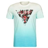 Υφασμάτινα Άνδρας T-shirt με κοντά μανίκια Guess PALM BEACH CN SS TEE Μπλέ