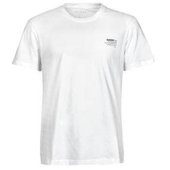 Υφασμάτινα Άνδρας T-shirt με κοντά μανίκια Guess ORGANIC BASIC CN SS TEE Άσπρο