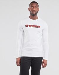 Υφασμάτινα Άνδρας Μπλουζάκια με μακριά μανίκια Guess GUESS PROMO CN LS TEE Άσπρο