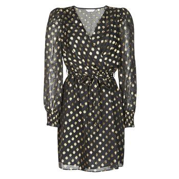 Υφασμάτινα Γυναίκα Κοντά Φορέματα Naf Naf DOTSYTA Black / Gold