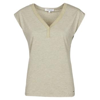 Υφασμάτινα Γυναίκα T-shirt με κοντά μανίκια Morgan DMAYA Beige