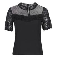 Υφασμάτινα Γυναίκα T-shirt με κοντά μανίκια Morgan DANY Black