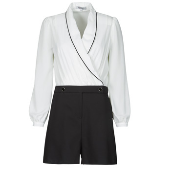 Υφασμάτινα Γυναίκα Ολόσωμες φόρμες / σαλοπέτες Morgan SHAMIE Black / Άσπρο