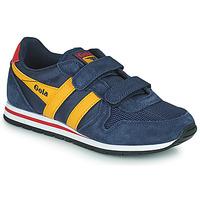 Παπούτσια Παιδί Χαμηλά Sneakers Gola DAYTONA VELCRO Marine / Yellow