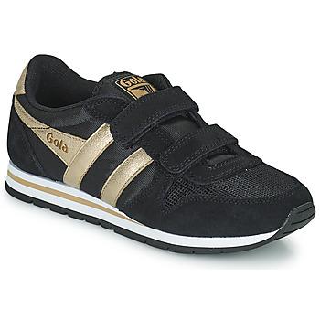 Παπούτσια Κορίτσι Χαμηλά Sneakers Gola DAYTONA MIRROR VELCRO Black / Gold
