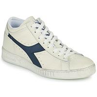 Παπούτσια Ψηλά Sneakers Diadora GAME L WAXED ROW CUT Άσπρο / Μπλέ