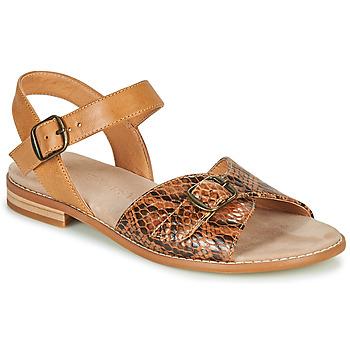 Παπούτσια Γυναίκα Σανδάλια / Πέδιλα Karston XABERO Camel / Python