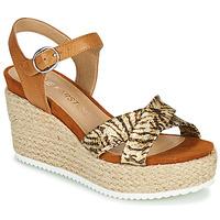 Παπούτσια Γυναίκα Σανδάλια / Πέδιλα Karston LABON Brown / Gold