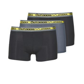 Εσώρουχα Άνδρας Boxer Athena OUTDOOR RECYCLEE X3 Black / Grey / Black