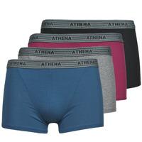 Εσώρουχα Άνδρας Boxer Athena BASIC COTON  X4 Grey / Bordeaux / Μπλέ / Black