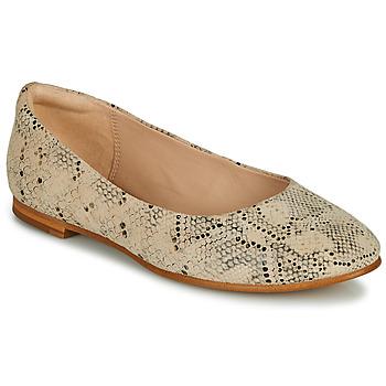 Παπούτσια Γυναίκα Μπαλαρίνες Clarks GRACE PIPER Beige / Python