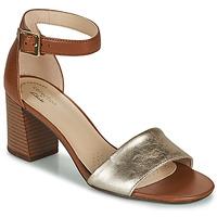 Παπούτσια Γυναίκα Σανδάλια / Πέδιλα Clarks JOCELYNNE CAM Brown / Argenté