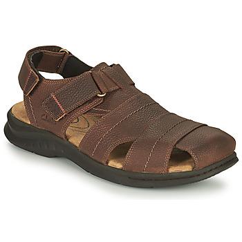 Παπούτσια Άνδρας Σπορ σανδάλια Clarks HAPSFORD COVE Brown