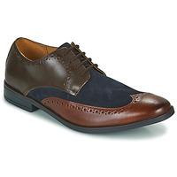 Παπούτσια Άνδρας Derby Clarks STANFORD LIMIT Brown / Μπλέ