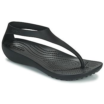 Παπούτσια Γυναίκα Σαγιονάρες Crocs CROCS SERENA FLIP W Black