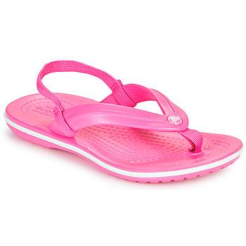Παπούτσια Κορίτσι Σαγιονάρες Crocs CROCBAND STRAP FLIP K Ροζ