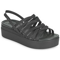 Παπούτσια Γυναίκα Σανδάλια / Πέδιλα Crocs CROCS BROOKLYN STRAPPY LOWWDGW Black
