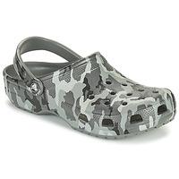 Παπούτσια Άνδρας Σαμπό Crocs CLASSIC PRINTED CAMO CLOG Camouflage / Grey