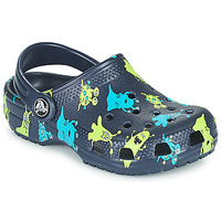 Παπούτσια Αγόρι Σαμπό Crocs CLASSIC MONSTER PRINT CLOG T Μπλέ