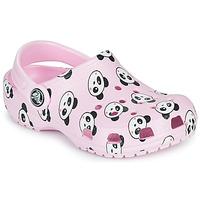 Παπούτσια Κορίτσι Σαμπό Crocs CLASSIC PANDA PRINT CLOG K Ροζ / Panda