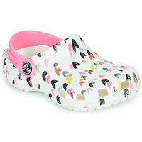 Παπούτσια Κορίτσι Σαμπό Crocs CLASSIC HEART PRINT CLOG K Άσπρο / Coeur