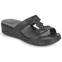 Παπούτσια Γυναίκα Τσόκαρα Crocs CROCSMONTEREYSHIMMERSLPONWDG W Black