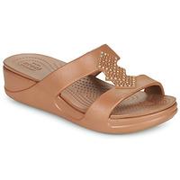 Παπούτσια Γυναίκα Τσόκαρα Crocs CROCSMONTEREYSHIMMERSLPONWDG W Bronze