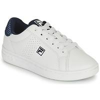 Παπούτσια Αγόρι Χαμηλά Sneakers Fila CROSSCOURT 2 NT KIDS Άσπρο / Μπλέ