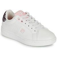 Παπούτσια Κορίτσι Χαμηλά Sneakers Fila CROSSCOURT 2 NT KIDS Άσπρο / Ροζ