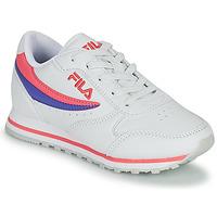 Παπούτσια Κορίτσι Χαμηλά Sneakers Fila ORBIT LOW KIDS Άσπρο / Ροζ