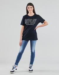 Υφασμάτινα Γυναίκα Skinny jeans Replay HYPERFLEX LUZ Μπλέ / Moyen