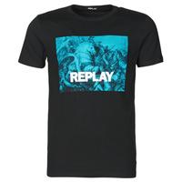 Υφασμάτινα Άνδρας T-shirt με κοντά μανίκια Replay M3412-2660 Black / Μπλέ