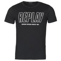Υφασμάτινα Άνδρας T-shirt με κοντά μανίκια Replay M3395-2660 Black