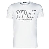 Υφασμάτινα Άνδρας T-shirt με κοντά μανίκια Replay M3395-2660 Άσπρο