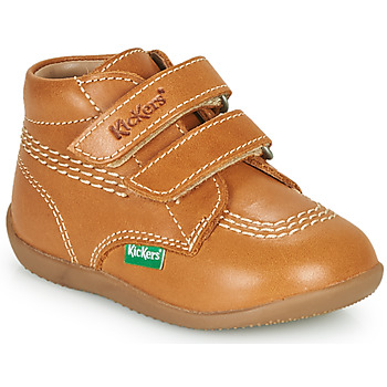 Παπούτσια Αγόρι Ψηλά Sneakers Kickers BILLY VELK-2 Camel