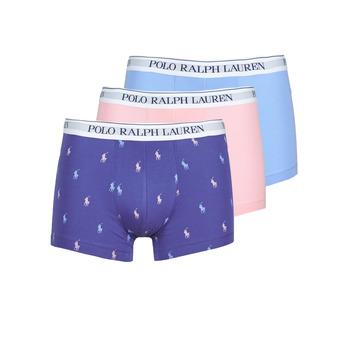 Εσώρουχα Άνδρας Boxer Polo Ralph Lauren CLASSIC TRUNK X3 Ροζ / Μπλέ / Marine