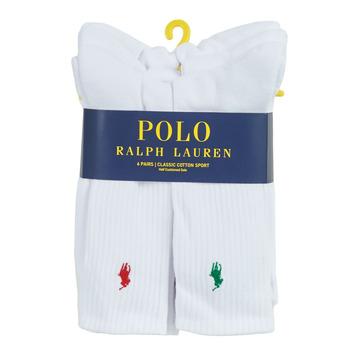Αξεσουάρ Άνδρας Κάλτσες Polo Ralph Lauren ASX110 6 PACK COTTON Άσπρο