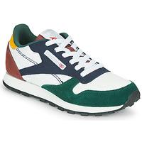 Παπούτσια Παιδί Χαμηλά Sneakers Reebok Classic CL LTHR Άσπρο / Green / Μπλέ