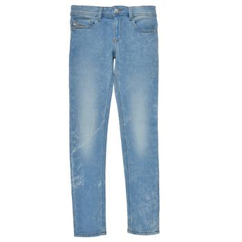 Υφασμάτινα Αγόρι Skinny jeans Diesel SLEENKER Μπλέ