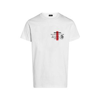 Υφασμάτινα Αγόρι T-shirt με κοντά μανίκια Diesel TDIEGOS Άσπρο