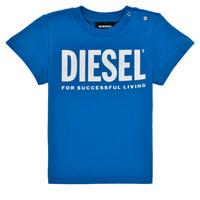 Υφασμάτινα Αγόρι T-shirt με κοντά μανίκια Diesel TJUSTLOGOB Μπλέ