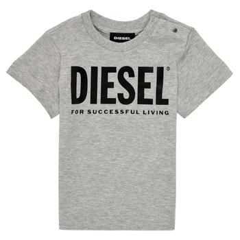 Υφασμάτινα Παιδί T-shirt με κοντά μανίκια Diesel TJUSTLOGOB Grey