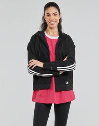 Υφασμάτινα Γυναίκα Φούτερ adidas Performance W Knit V Hoodie Black