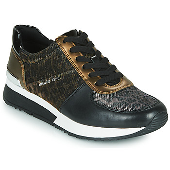 Παπούτσια Γυναίκα Χαμηλά Sneakers MICHAEL Michael Kors ALLIE Black / Panthère / Bronze