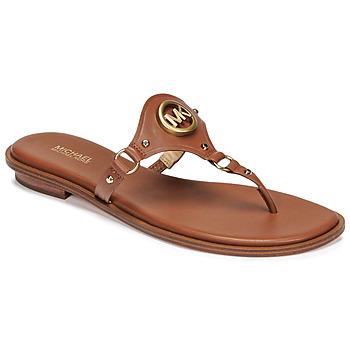 Παπούτσια Γυναίκα Σαγιονάρες MICHAEL Michael Kors CONWAY SANDAL Cognac