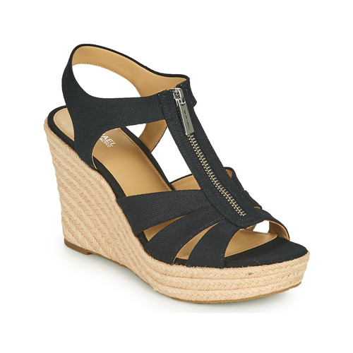 Παπούτσια Γυναίκα Σανδάλια / Πέδιλα MICHAEL Michael Kors BERKLEY WEDGE Black