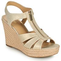 Παπούτσια Γυναίκα Σανδάλια / Πέδιλα MICHAEL Michael Kors BERKLEY WEDGE Gold