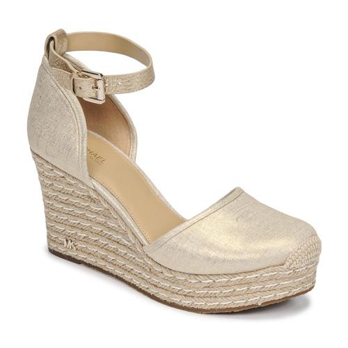 Παπούτσια Γυναίκα Σανδάλια / Πέδιλα MICHAEL Michael Kors KENDRICK WEDGE Gold