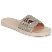 Παπούτσια Γυναίκα σαγιονάρες MICHAEL Michael Kors MK SLIDE Ροζ / Nude / Gold