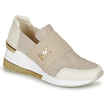 Παπούτσια Γυναίκα Χαμηλά Sneakers MICHAEL Michael Kors FELIX TRAINER EXTREME Champagne